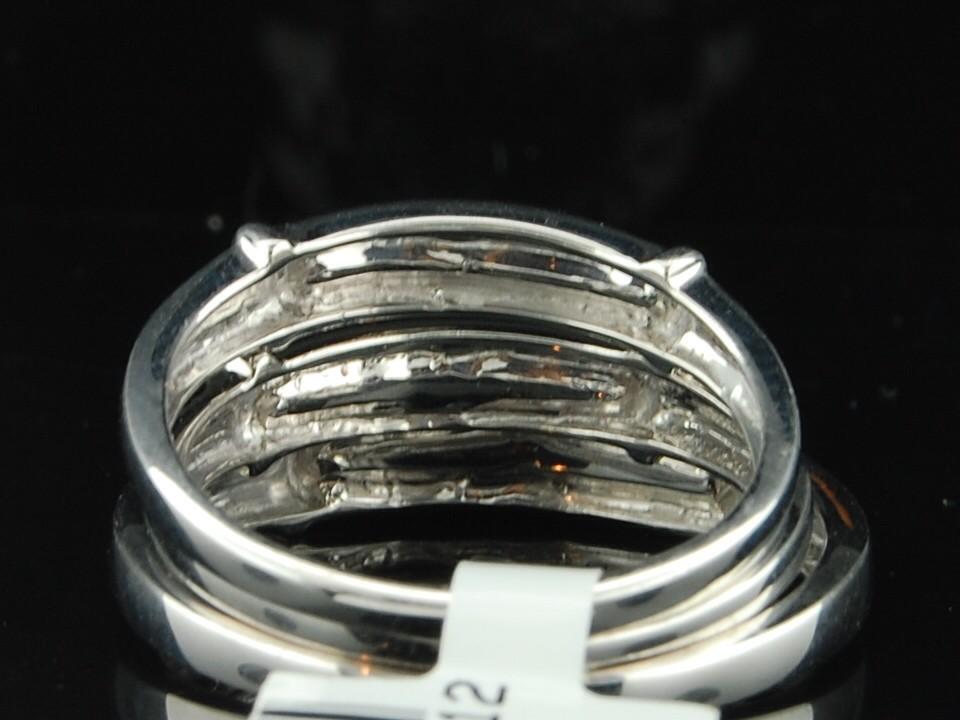 White Gold Finish Diamond Engagement Ring Wedding Band Trio Set
