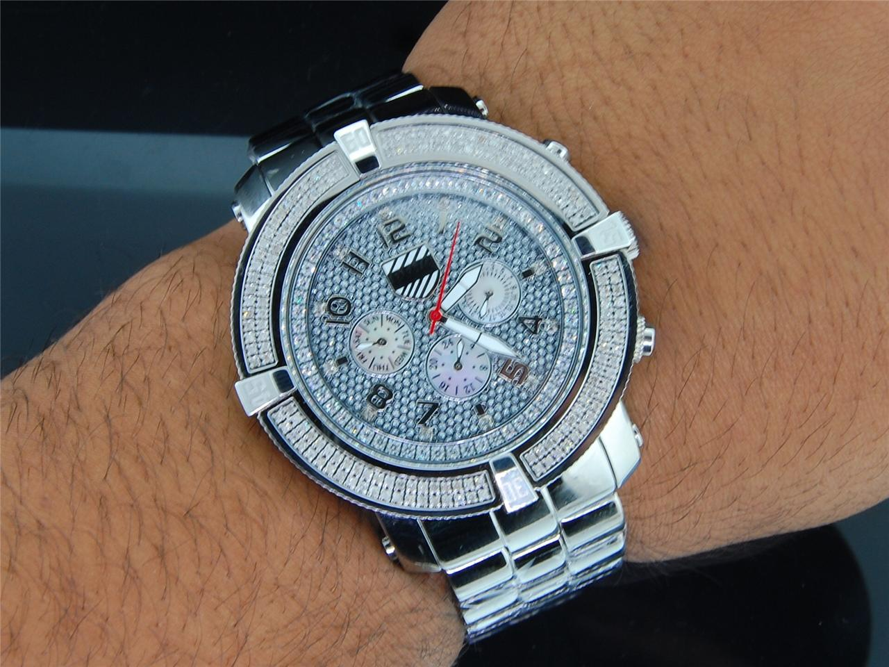 Mens Platinum Watch Company 5th Avenue Joe Rodeo 160