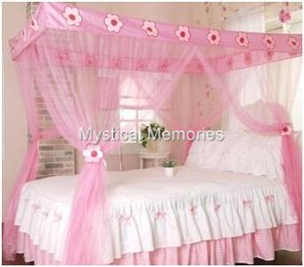 Welcome to our magical world where your only limit is your imagination!  sc 1 st  eBay & Pink Fairy Princess Mosquito Net 4 Poster Bed Canopy Single Bed | eBay