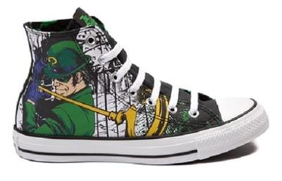 Converse The Riddler DC COMICS Batman Gotham Villain Chuck Taylor ... 5b253634b