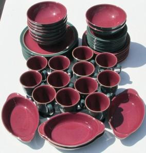 48 Piece Set Of Denby Stoneware Dinnerware Service For 8