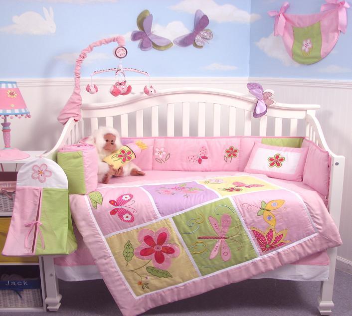 Soho Butterflies Meadows Baby Crib Nursery Bedding Set 13