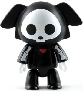 "ORIGINAL DOG BLACK SKELANIMALS ARTIST SERIES 2 2.5/"" FIGURE QEE TOY2R"
