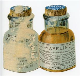 Details about 1891 CALENDAR VASELINE DIE CUT FOLDER VICTORIAN TRADE  CARD*STAHL & JAEGER LITHO