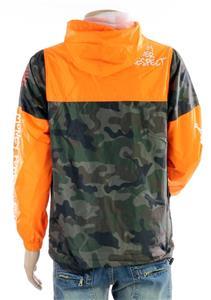 New Unisex Rebel Mind Orange Camo Print Graffiti Hip Hop Windbreaker 82-584