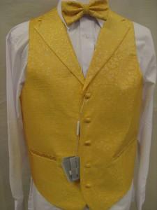 Men S Suit Tuxedo Dress Vest Necktie Bowtie Hanky Set Gold