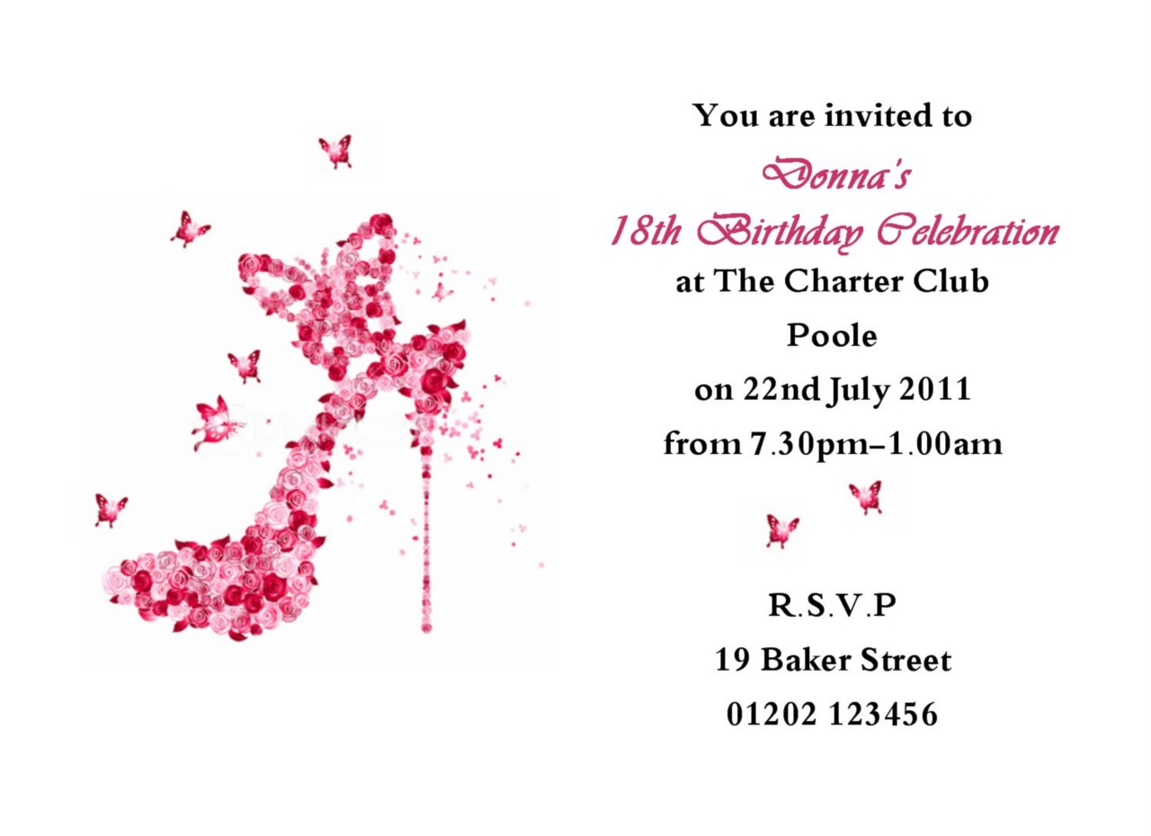 18th Birthday Invitation Card Templates
