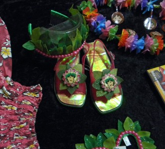 Disney Store Lilo Stitch Hawaiian Hula Dance Costume 9pc