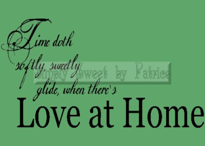 LOVE COME HOME Vinyl Wall Saying Lettering Art Quote Decoration Decal Sign Craft
