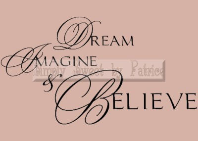 dream believe vinyl wall saying lettering quote art decoration decal sign craft ebay. Black Bedroom Furniture Sets. Home Design Ideas