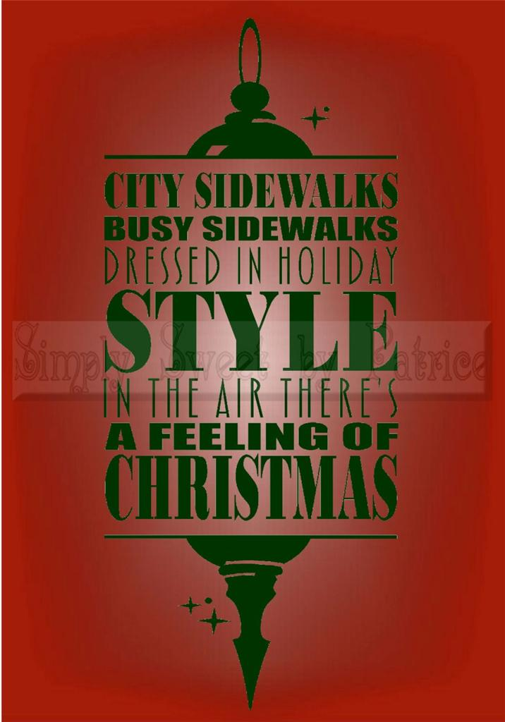 feeling of christmas vinyl wall saying lettering quote decoration decal craft ebay. Black Bedroom Furniture Sets. Home Design Ideas