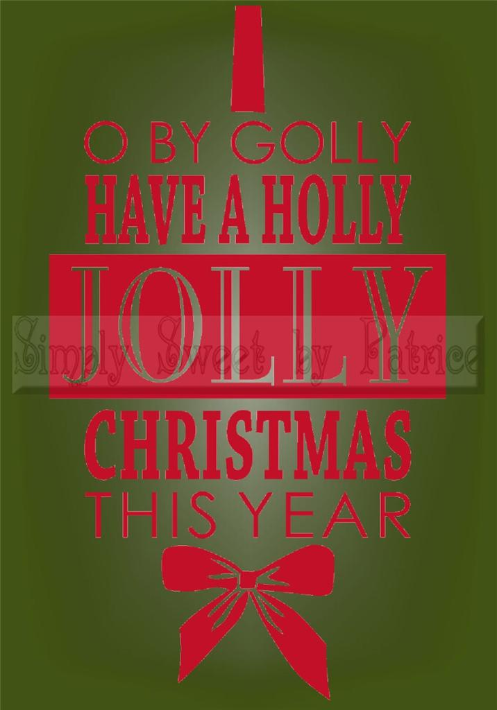 have a jolly christmas vinyl wall saying lettering quote decoration decal craft ebay. Black Bedroom Furniture Sets. Home Design Ideas