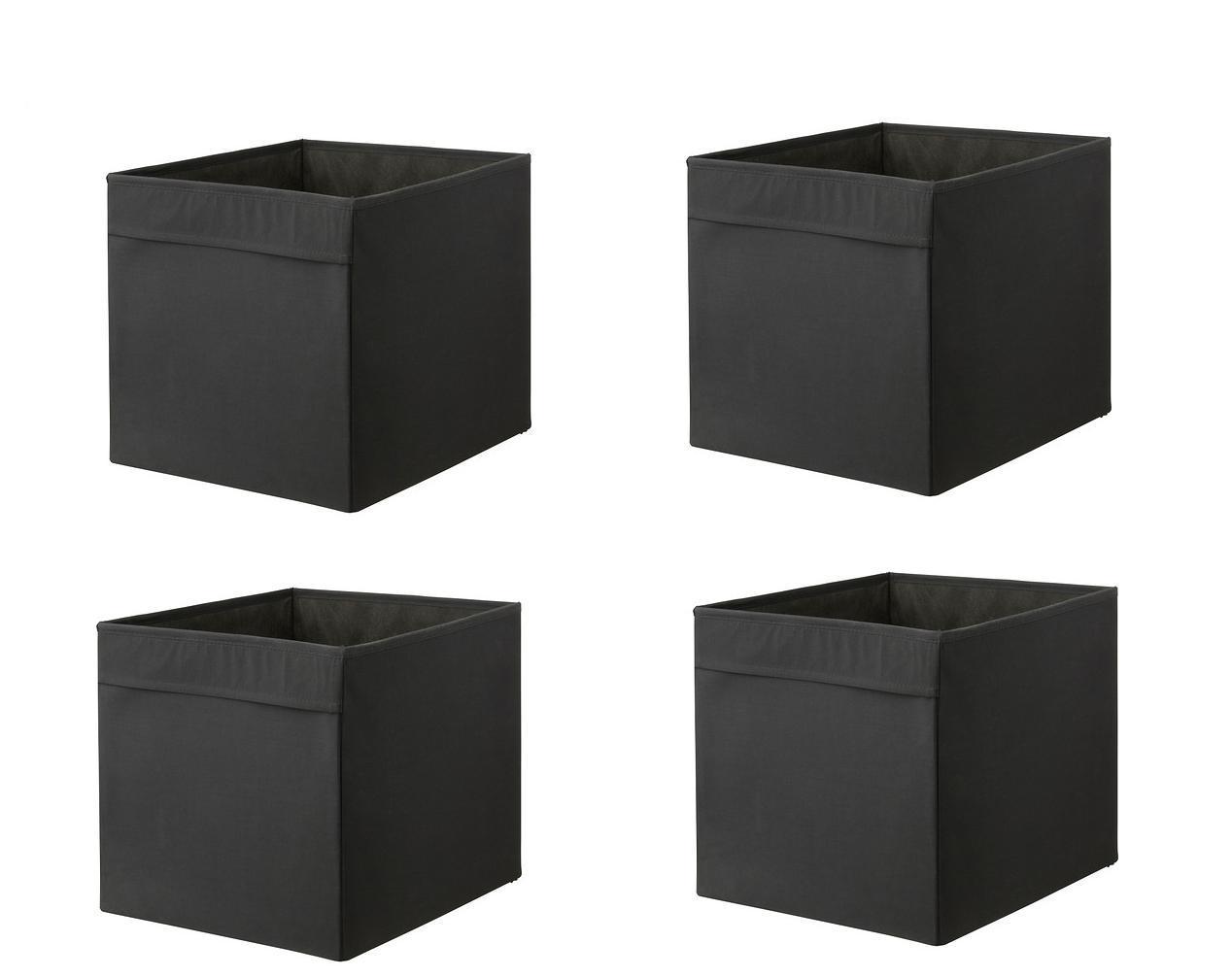 1 2 or 4x ikea drona storage box organiser expedit unit file red orange blue ebay. Black Bedroom Furniture Sets. Home Design Ideas