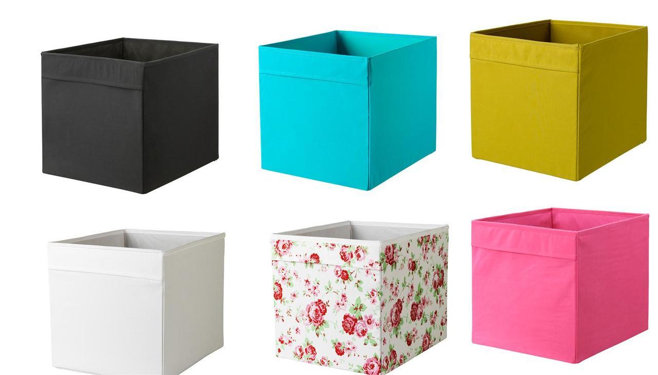 1 2 or 4x ikea dr na storage box organiser expedit unit file 6 colours ebay. Black Bedroom Furniture Sets. Home Design Ideas