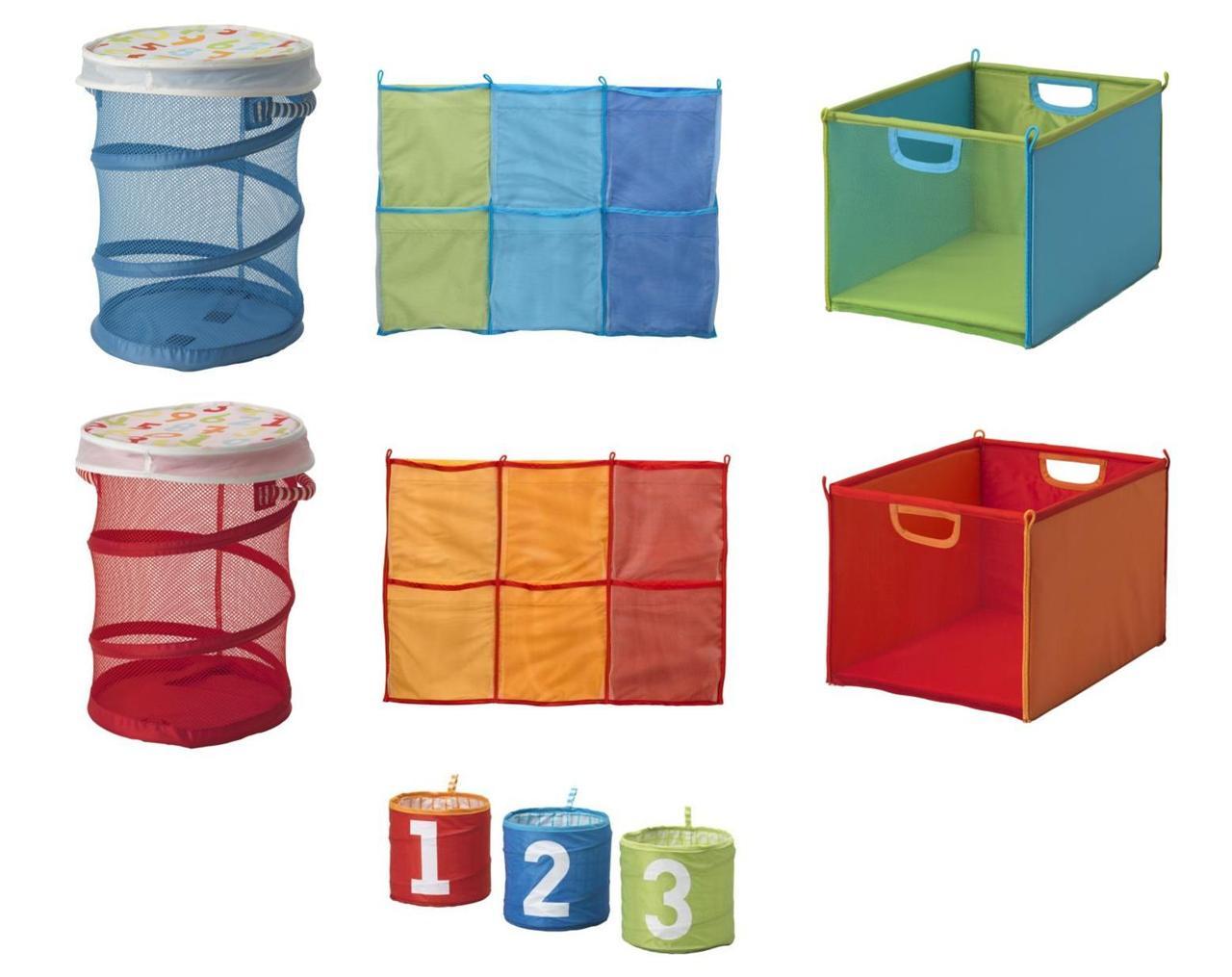 "Childrens Kids Bedroom Furniture Set Toy Chest Boxes Ikea: Ikea Kids Children's ""Kusiner"" STORAGE BASKETS, BOXES"