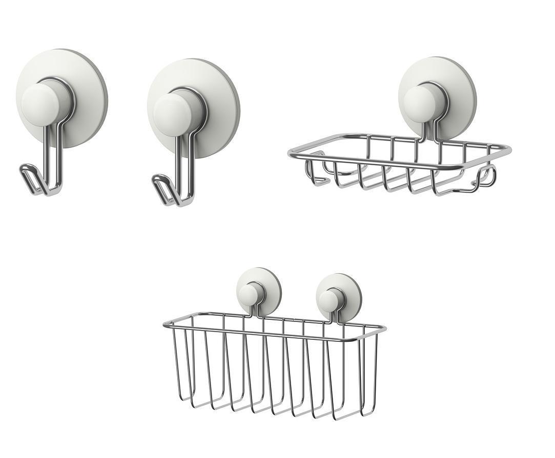 ikea immeln series ventouse salle de bains accessoires crochets porte savon paniers ebay. Black Bedroom Furniture Sets. Home Design Ideas