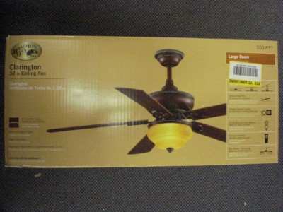 hampton bay clarington 52 ceiling fan light kit a43