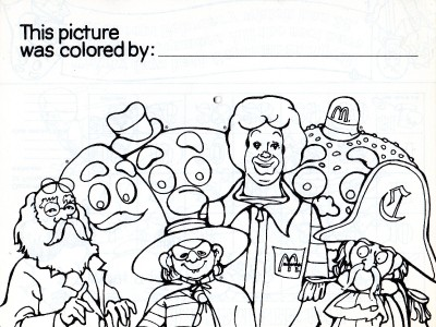 It's just a graphic of Trust mcdonalds coloring pages