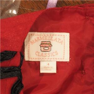86011745c9937 Marmellata Petite Fille Rouge Vacances Robe Soirée Taille 4