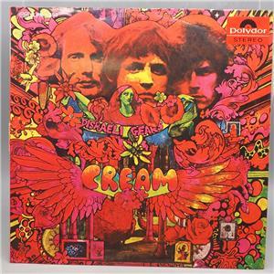 Vintage Cream Disraeli Gears Vinyl Record Album Lp Slpm