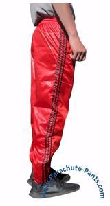 Shiny Nylon Bruno Wet Look Wind Adidas Like Pants Black