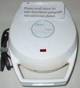 Oster Designer Belgian Waffle Maker Iron Round White Small