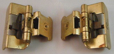 Lot Of 2 Brass Amerock 8704 6 Cabinet Hinges Double
