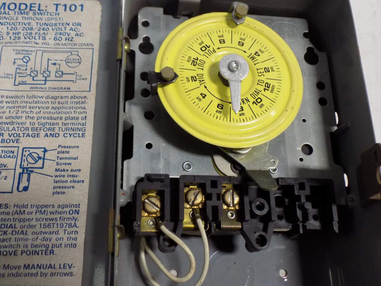 Super Intermatic 24 Hour Dial Time Switch T101 Ebay Wiring Cloud Nuvitbieswglorg