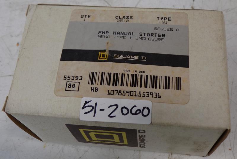Square D FHP Manual Motor Starter 2510FG1 NEMA 1 V142 NEW Free Shipping