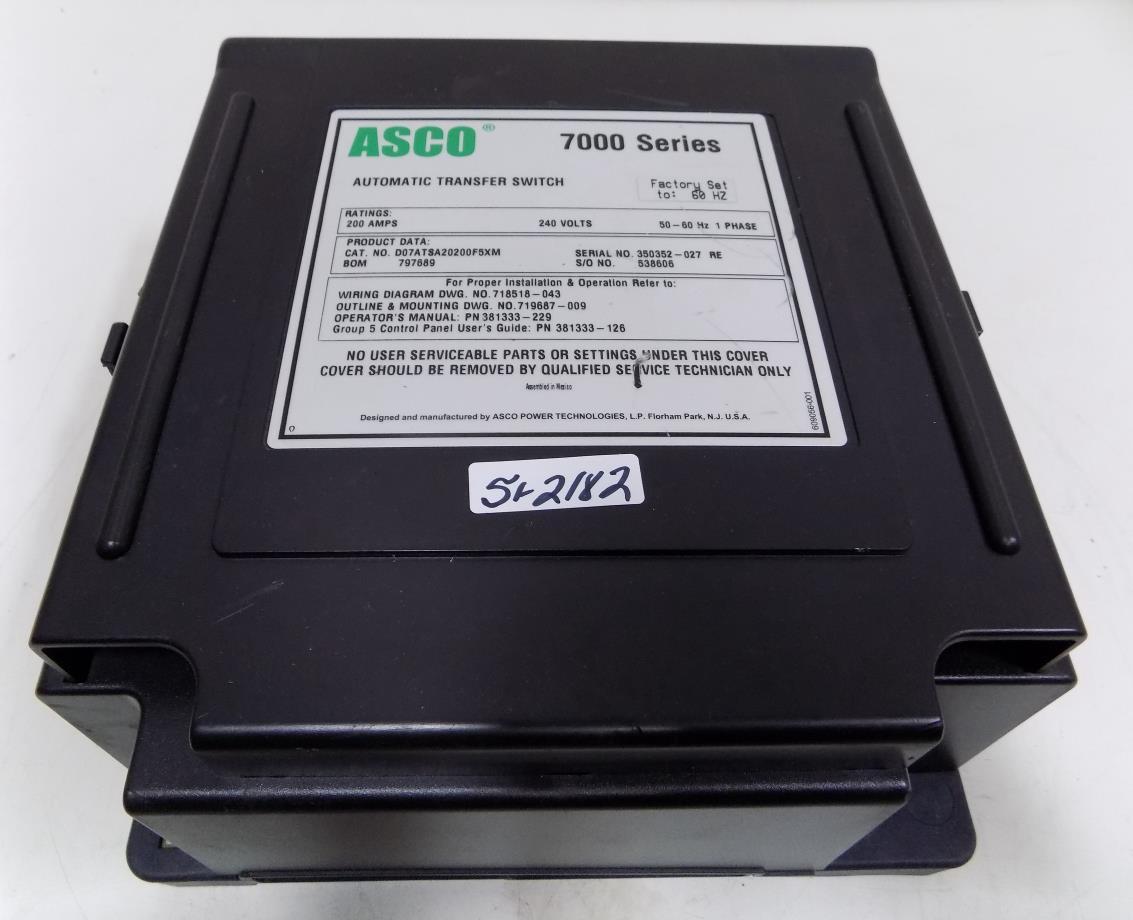 Asco 7000 Ser 200a 240v 1ph 50 60hz Automatic Transfer Switch 200 Wiring Diagram D07atsa20200f5xm