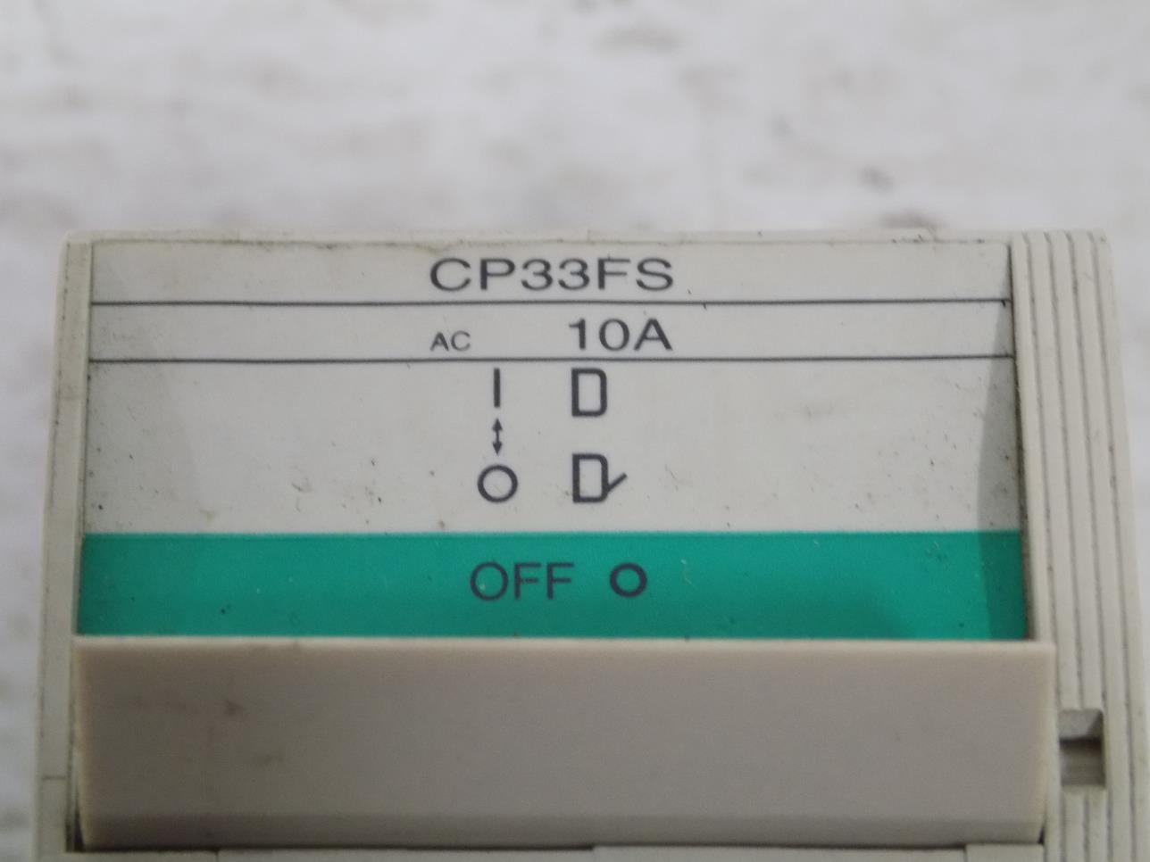 FUJI ELECTRIC 3-POLE 10A CIRCUIT BREAKER CP33FS//10W