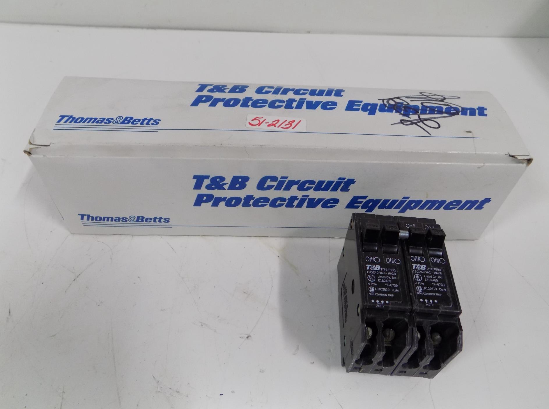 TBBQ2302120 Lot of 2 T/&B Breaker Catalog Number