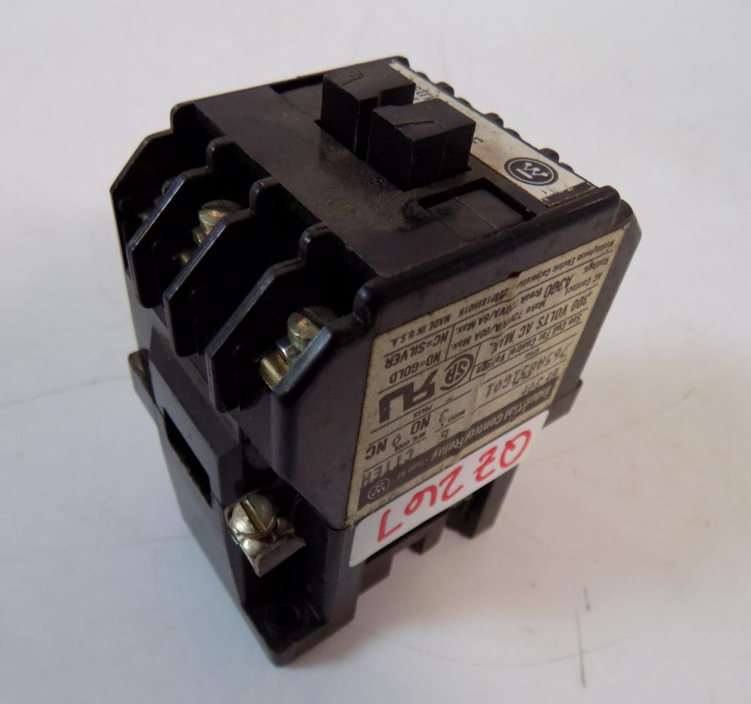 WESTTINGHOUSE BF CONTROL RELAY BF62F