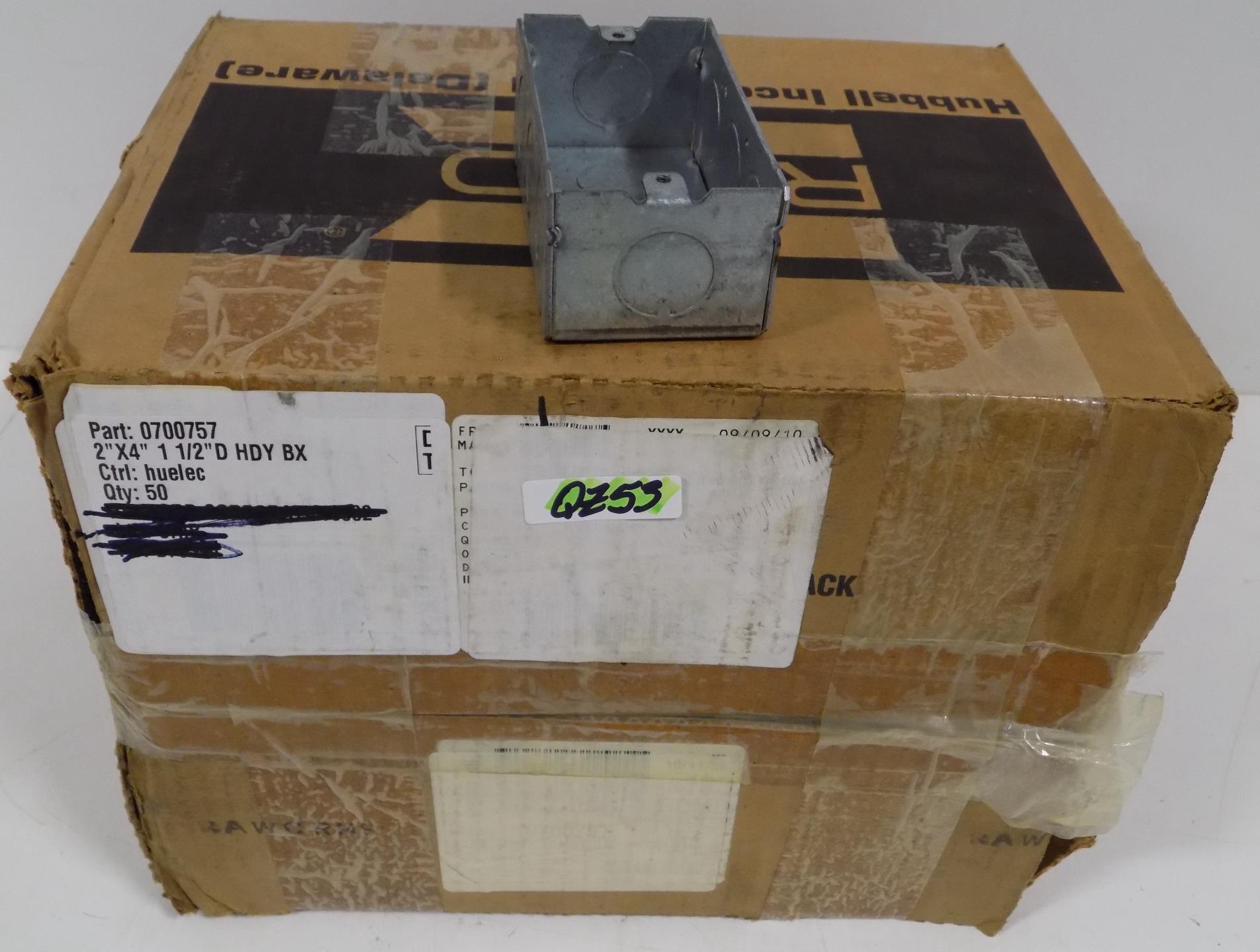 Hubbell 5324-0 Outlet Box 18.3 Cu-In 1 Gang 4-1//2 In L X 2-3//4 In W X 2 In D 4-1//2 L x 2-3//4 W x product specific