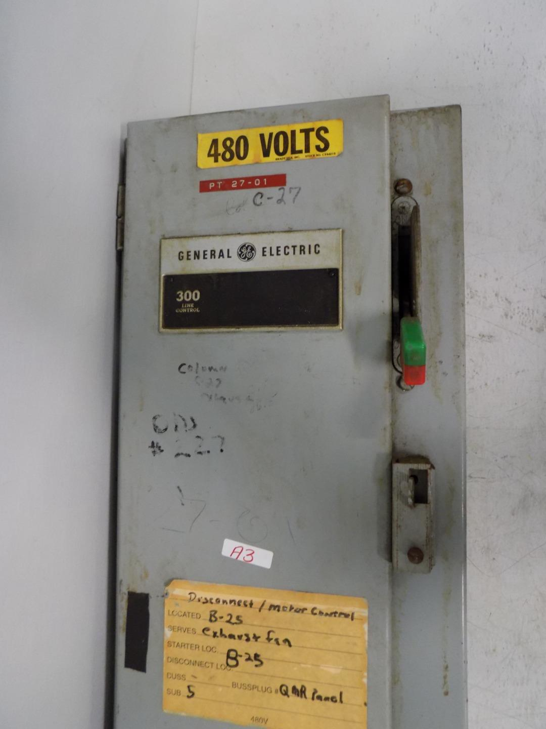 Details about GE 300 LINE CONTROL COMBINATION STARTER CR308 on