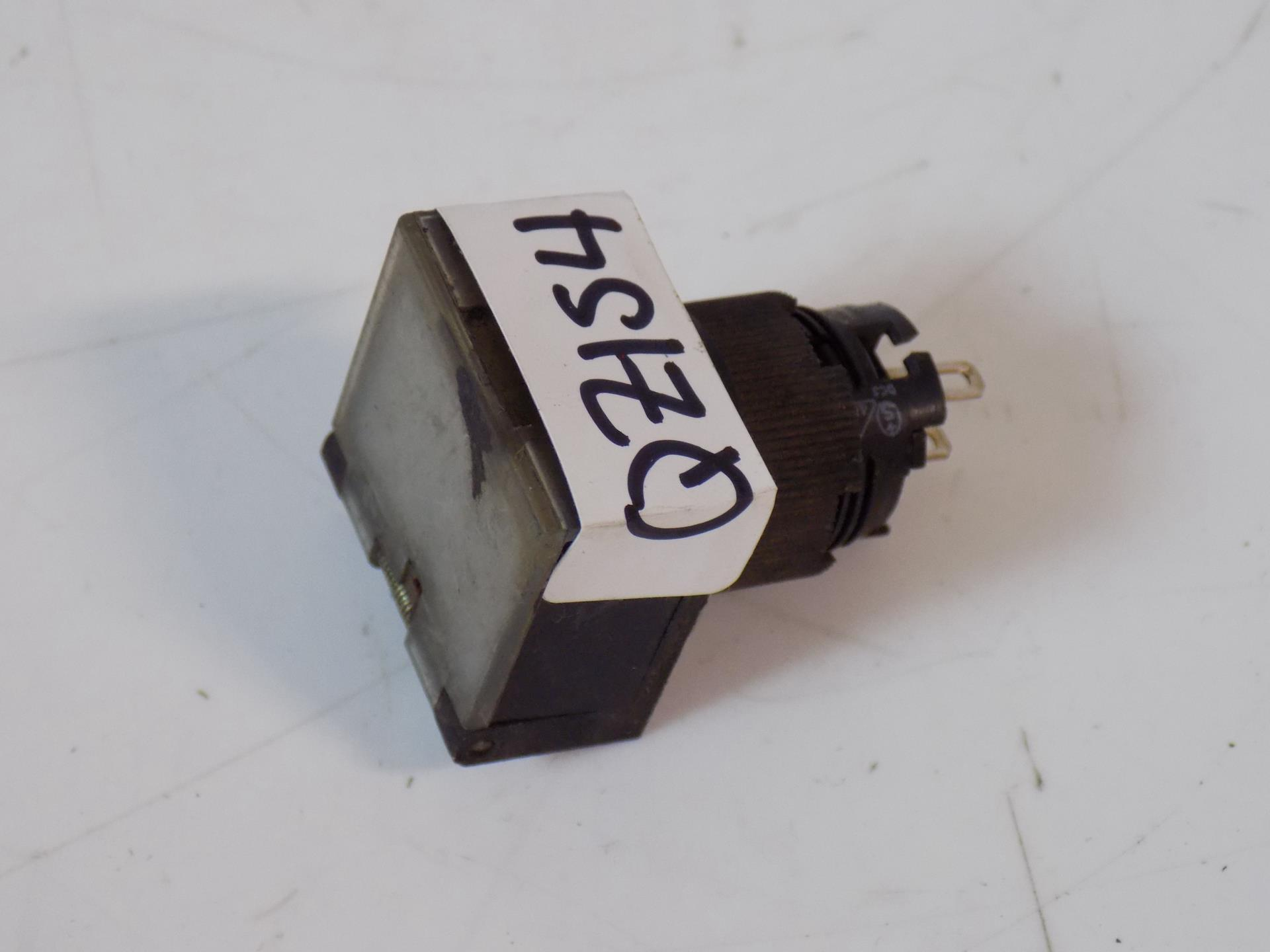 Used A3GJ-6011-3 Warranty Omron Rectangle Green Push Button w//Cover