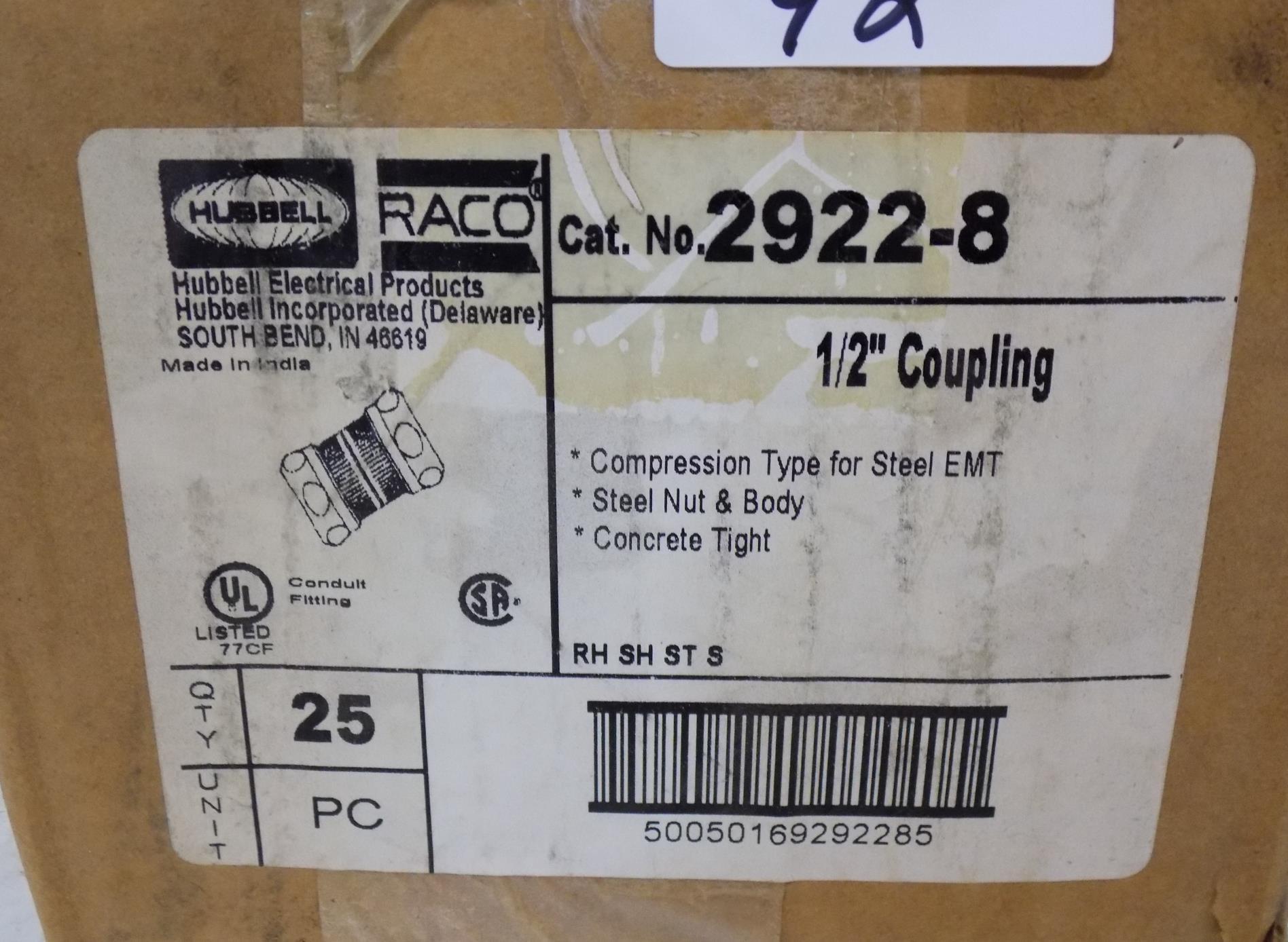 1 1//2 Compression Connector For EMT Lot Of 25