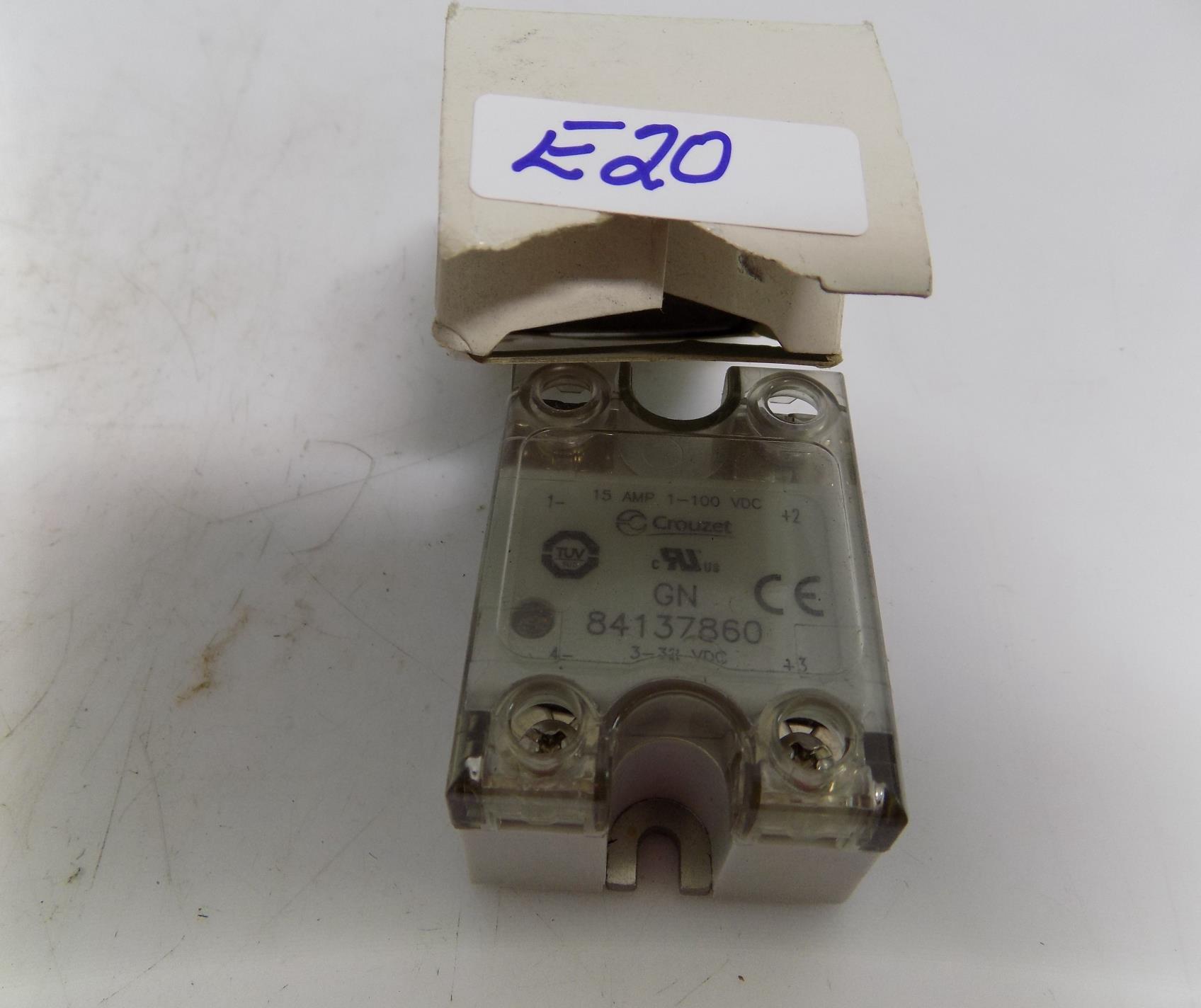 Opto 22 mount OAC24 18-32VDC input 3A 120V AC Output Relay Crouzet Gordo I//O