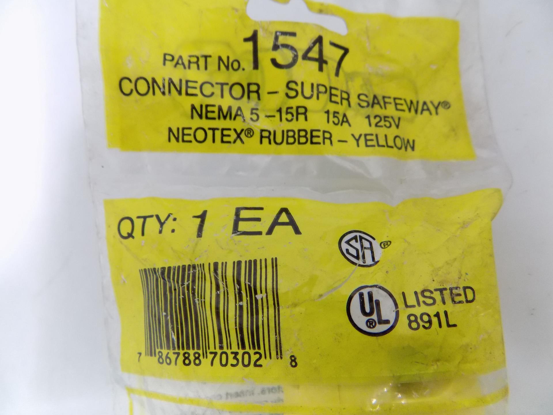 NEMA 5-15R -NEW-B 125 Volt Cord Connectors Box of 10 Woodhead 1547 15 Amp