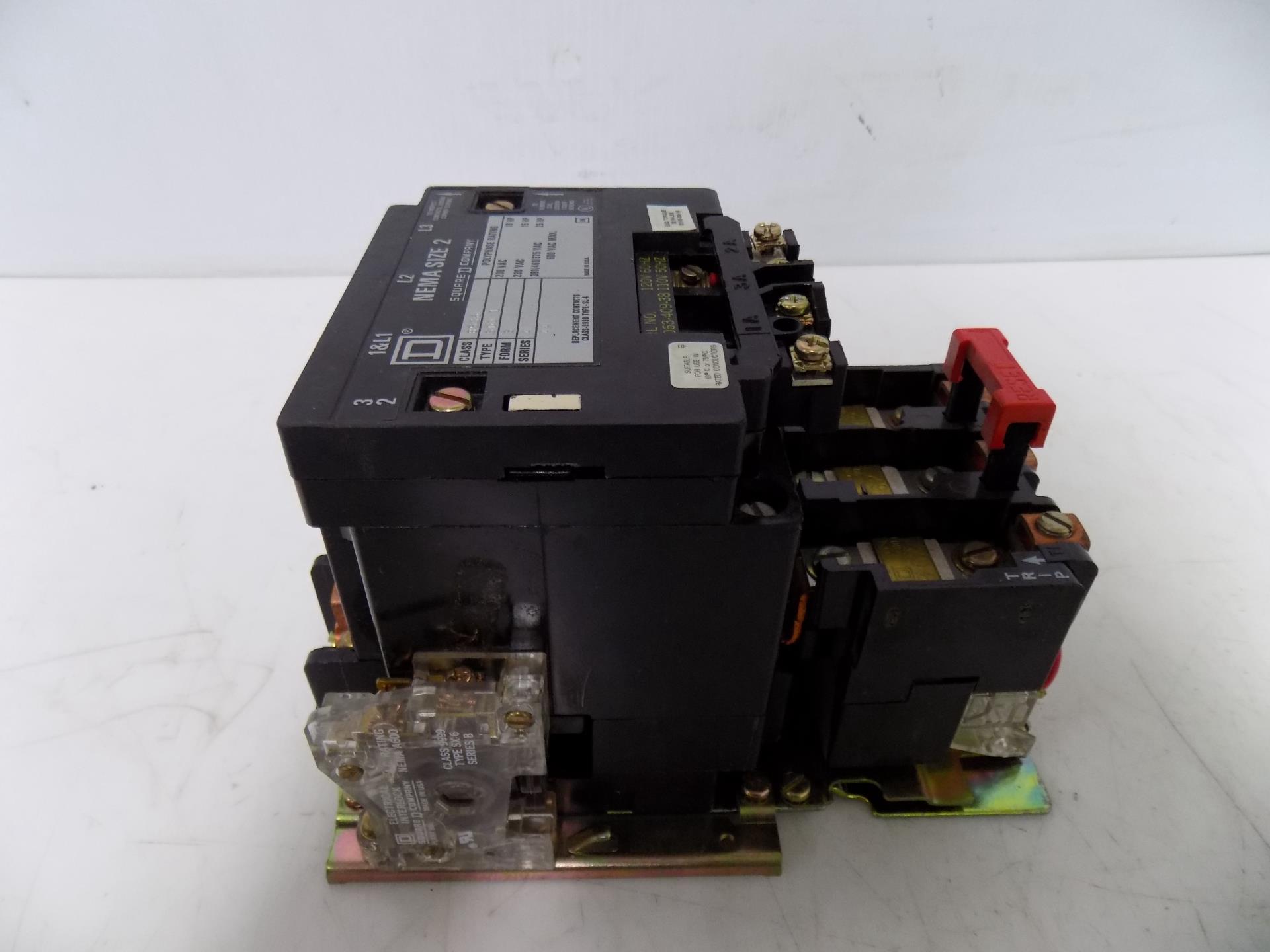 SQUARE D 8536 SDO 1 SIZE 2 STARTER W/31063-409-38 COIL ...
