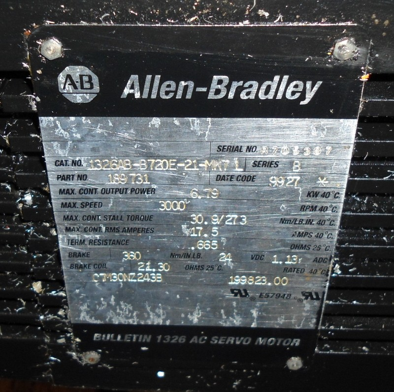 Allen bradley reliance electric ac servo motor 1326ab for Electro craft servo motor specifications
