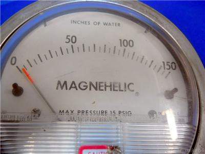 Dwyer 2150c Magnehelic Water Gauge 0 150 Range Inches