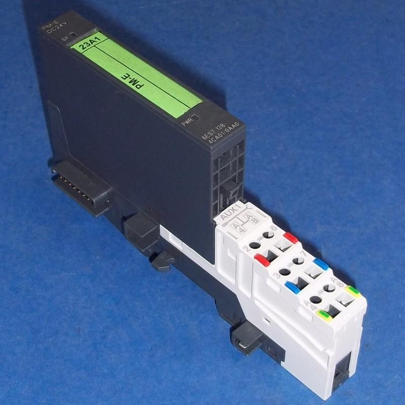 SIEMENS SIMATIC S7 POWER MODULE 6ES7 138-4CA01-0AA0 W// BASE TM-P15C23-A1