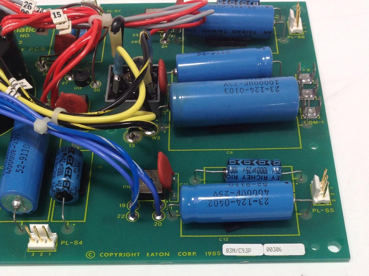 EATON DYNAMATIC POWER SUPPLY P.C.B CIRCUIT BOARD REV.B 15-590-2 NNB