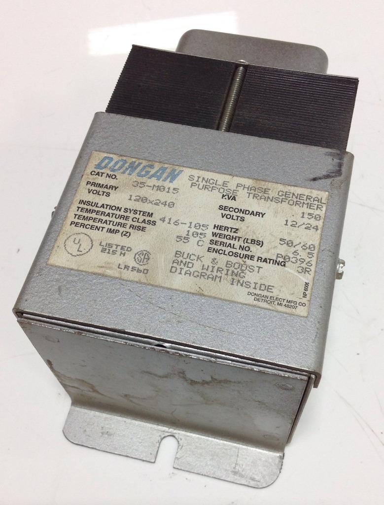 Dongan 120x240v 150kva 3r Single Phase Transformer 35 M015 Ebay 480v To Circuit Breaker Wiring Diagram