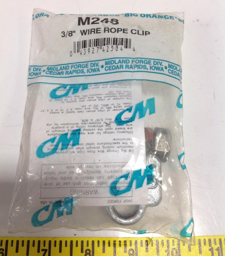 Cm Columbus McKinnon Forged Wire Rope Clips - M248 | eBay