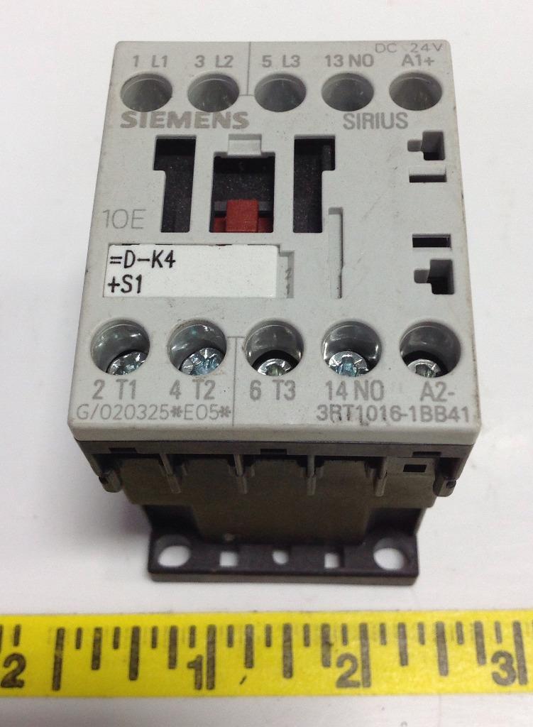 Siemens Sirius 3R Relay 3RT1 Siemens 3RT1015-1BB41 1 Closer S0024 Vdc
