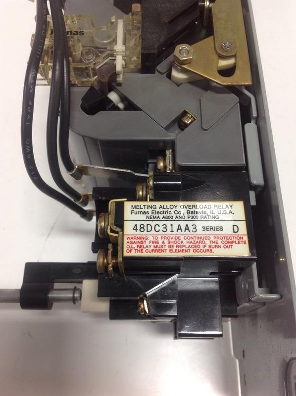 FURNAS ELECTRIC 3PH 27AMPS 600VAC SIZE1 REVERSING STARTER 22DP32AFE3 SER A