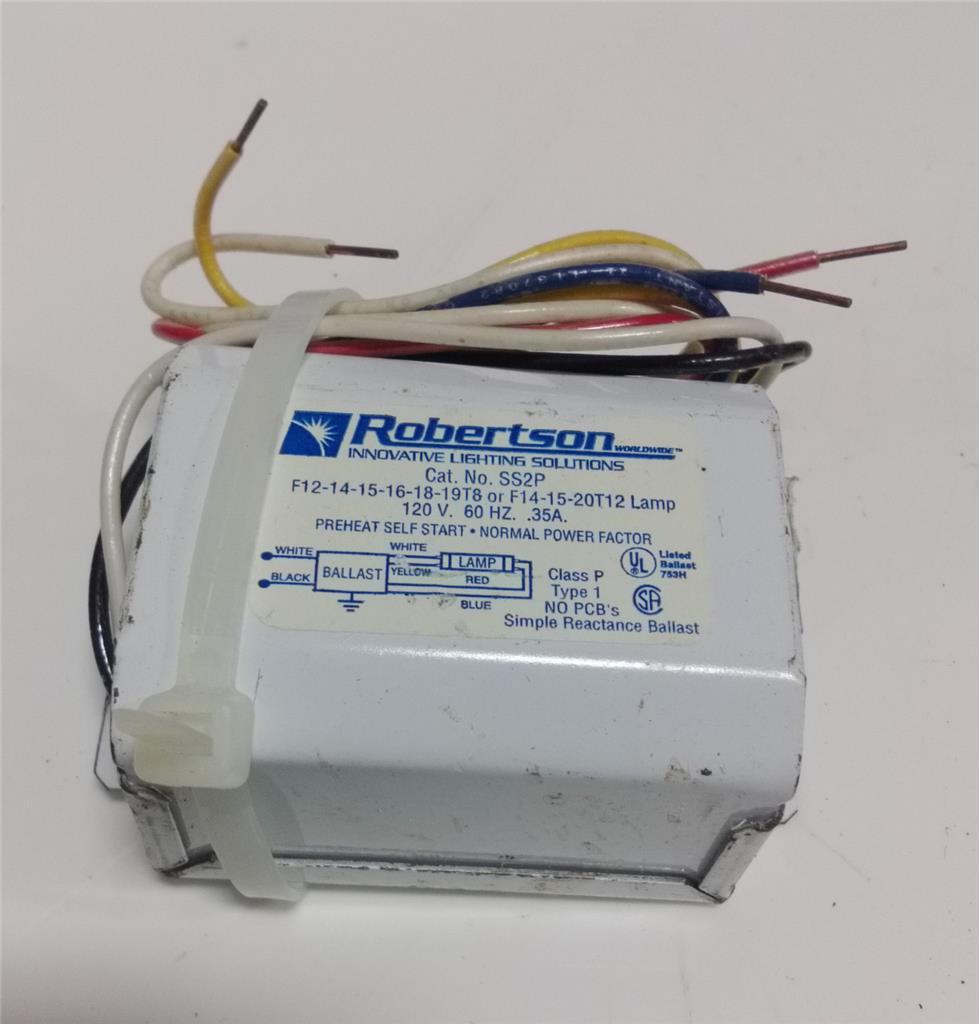 Robertson 120vac 60hz Magnetic Preheat Self Start Normal Power Factor In Electrical Wiring Installation Technology Ss2p Lsjch08042015 Shelf51 11886 Jobcodehospital7515