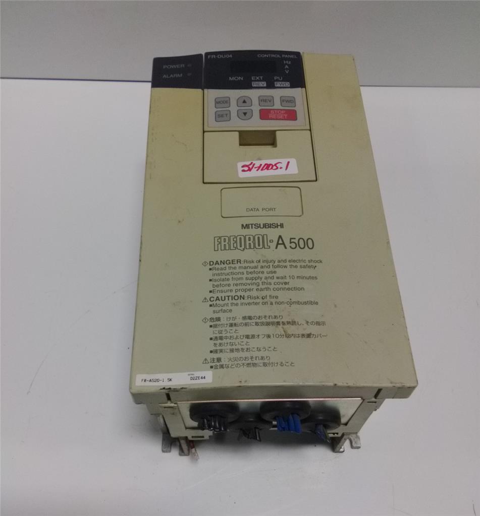 mitsubishi freqrol a500 3 phase ac inverter drive fr a520 1 5k pzb rh ebay com mitsubishi s500 vfd manual spanish Mitsubishi VFD Drives